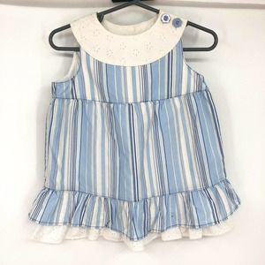Hanna Andersson Blue And White Stripe Summer Dress